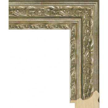 RS058.2.066 Деревянный багет серебряный