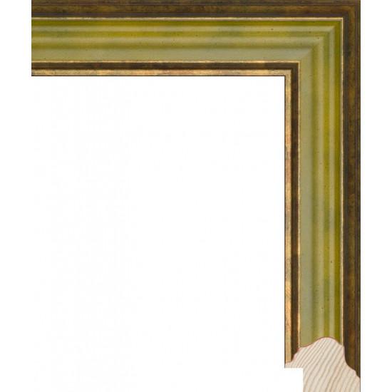 RS082.0.203 Деревянный багет зелёный в интернет-магазине ROSESTAR фото