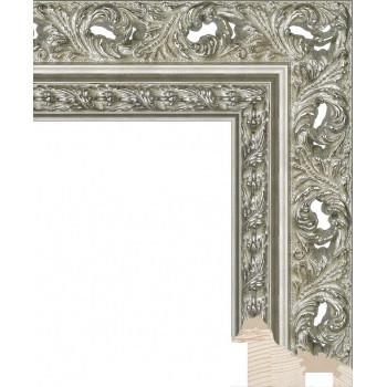 RS086.1.208 Деревянный багет серебряный