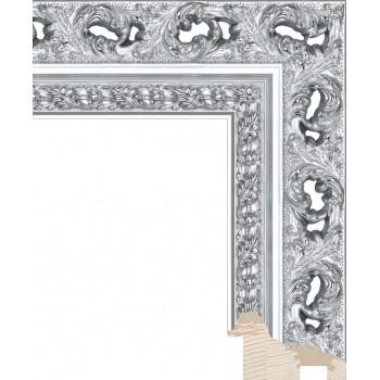 RS086.1.211 Деревянный багет серебряный