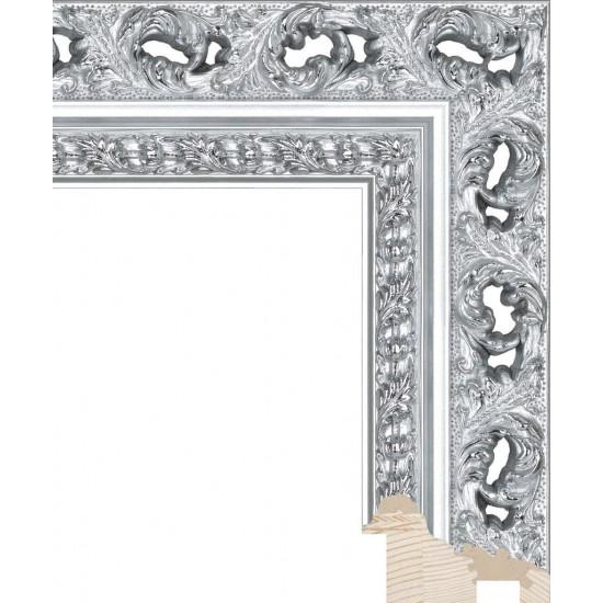 RS086.1.211 Деревянный багет серебряный в интернет-магазине ROSESTAR фото