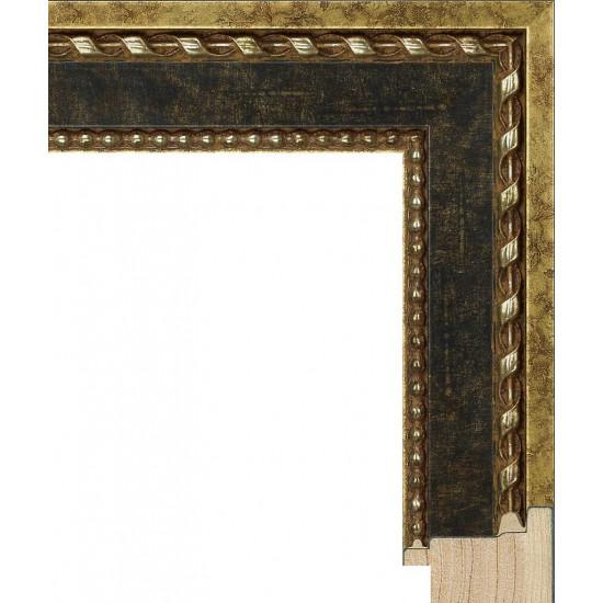 RS097.1.616 Деревянный багет золотой в интернет-магазине ROSESTAR фото