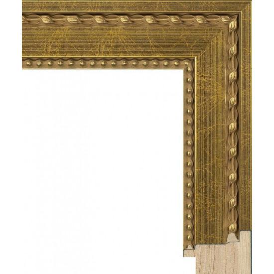 RS097.1.620 Деревянный багет золотой в интернет-магазине ROSESTAR фото
