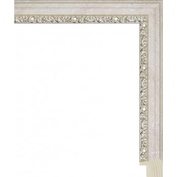 RS105.1.264 Деревянный багет белый
