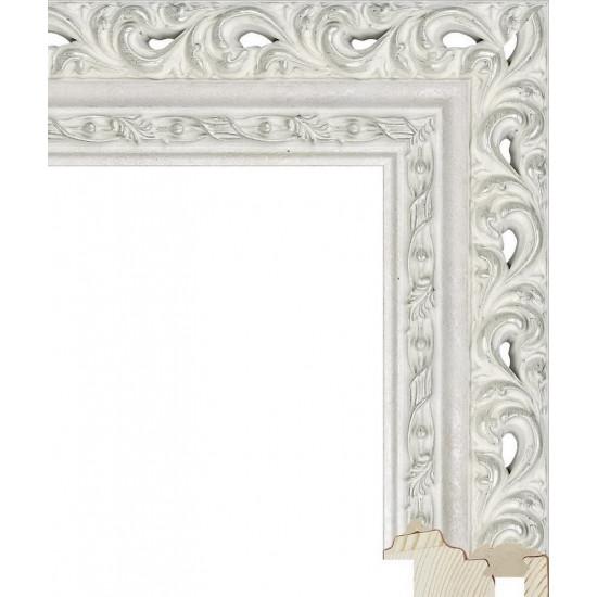 RS114.1.206 Деревянный багет белый в интернет-магазине ROSESTAR фото