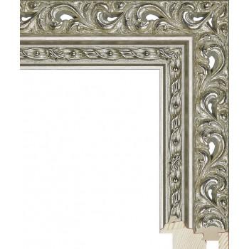 RS114.1.208 Деревянный багет серебряный