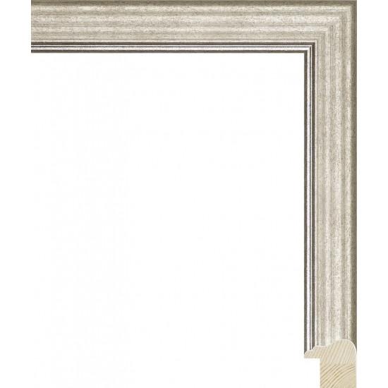 RS115.0.331 Деревянный багет серебряный в интернет-магазине ROSESTAR фото