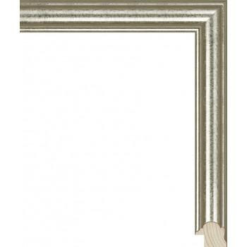 RS117.0.048 Деревянный багет серебряный