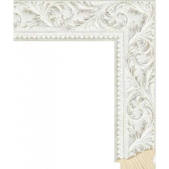 RS131.2.499 Деревянный багет белый в интернет-магазине ROSESTAR фото