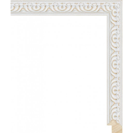 RS140.1.513 Деревянный багет белый в интернет-магазине ROSESTAR фото