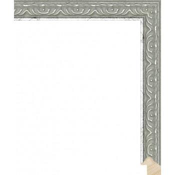 RS140.1.520 Деревянный багет серебряный