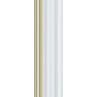 135N.RS.707 Пластиковый багет Белый
