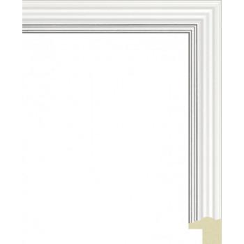 135N.RS.288 Пластиковый багет Белый