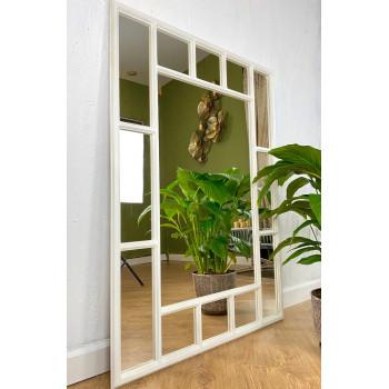 Зеркало большое напольное и настенное в зеркальной белой раме Lettise White