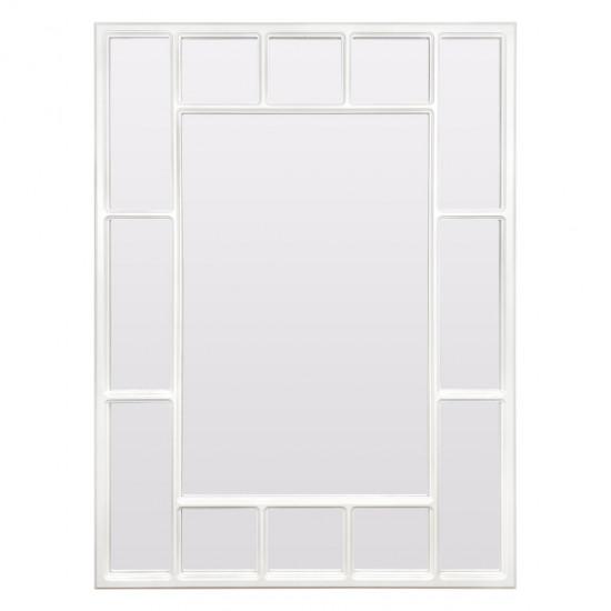 Зеркало большое напольное и настенное в зеркальной белой раме Lettise White в интернет-магазине ROSESTAR фото