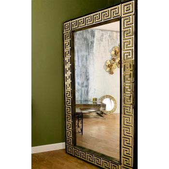 Зеркало большое напольное и настенное в полный рост Dolce Золото, черный