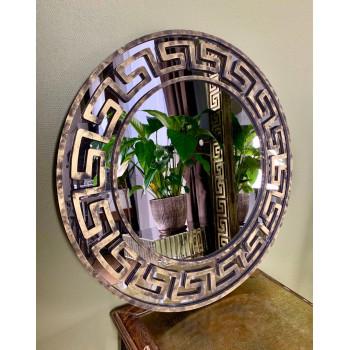 Круглое зеркало в золотой раме Epico