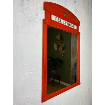 Зеркало декоративное в красной раме Little British