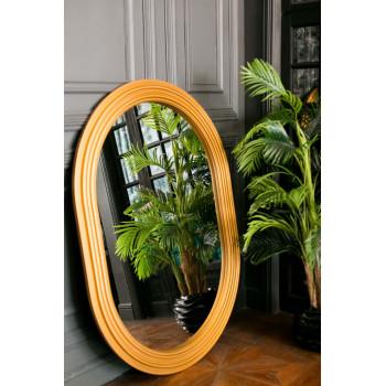 Овальное зеркало в золотой раме Roma