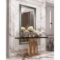 Зеркало напольное и настенное в полный рост в серебряной раме Santica