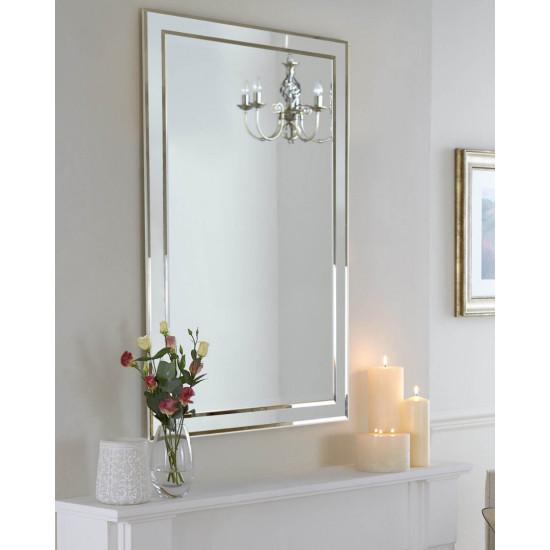 Зеркало в серебряной зеркальной раме Sierra Classic в интернет-магазине ROSESTAR фото