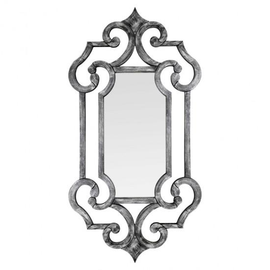 Зеркало настенное в раме Solemn Черный, серебро в интернет-магазине ROSESTAR фото