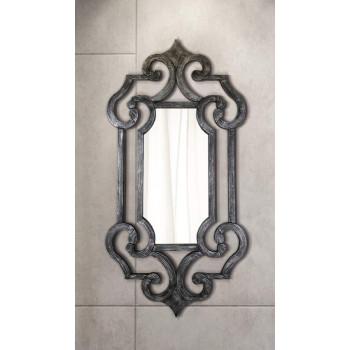 Зеркало настенное в раме Solemn Черный, серебро