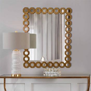 Зеркало в золотой раме Lambrusco