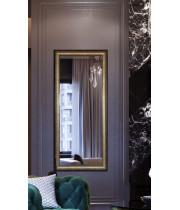 Зеркало большое напольное и настенное в полный рост в раме Goldie Золото, коричневый