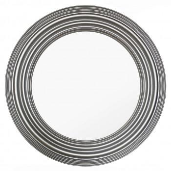 Зеркало круглое в серебряной раме Segreto