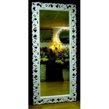 Большое настенное и напольное зеркало в полный рост «Милан» Белое