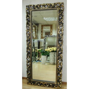 Большое настенное и напольное зеркало в полный рост «Милан» Бронза