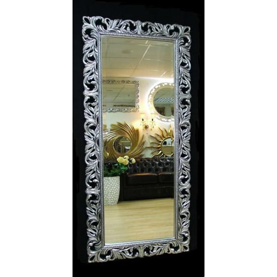 Большое настенное и напольное зеркало в полный рост «Милан» Чернёное Серебро в интернет-магазине ROSESTAR фото
