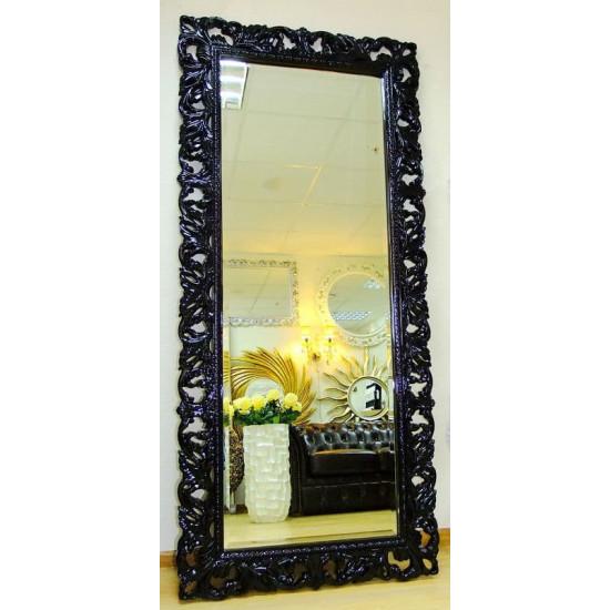 Большое настенное и напольное зеркало в полный рост «Милан» Черное в интернет-магазине ROSESTAR фото