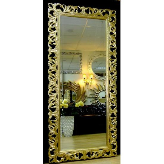 Большое настенное и напольное зеркало в полный рост «Милан» Светлое золото в интернет-магазине ROSESTAR фото