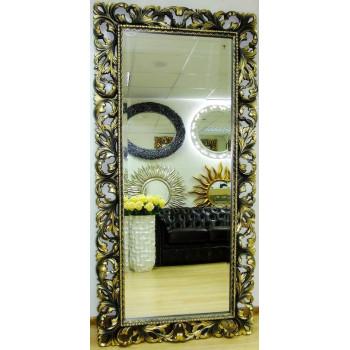 Зеркало большое на стену/напольное в раме «Монако» Бронза