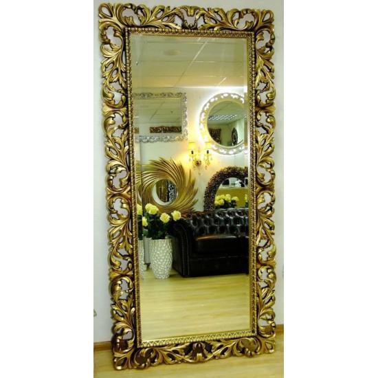 Зеркало большое на стену/напольное в раме «Монако» Чернёное Золото в интернет-магазине ROSESTAR фото