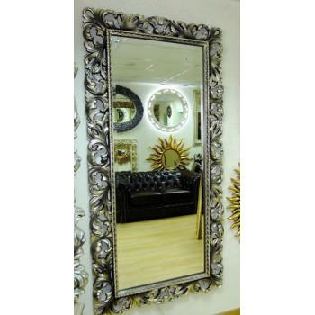 Зеркало большое на стену/напольное в раме «Монако» Венге Шампань