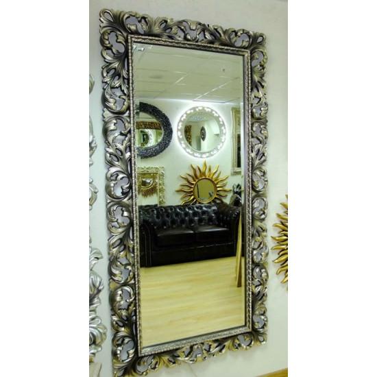 Зеркало большое на стену/напольное в раме «Монако» Венге Шампань в интернет-магазине ROSESTAR фото