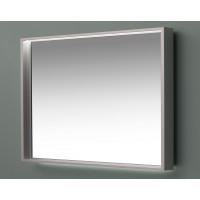 Зеркало с подсветкой в алюминиевой раме Алюминиум 140х75 Серебро