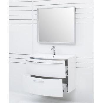 Зеркало с подсветкой в алюминиевой раме Алюминиум 70х75 Серебро