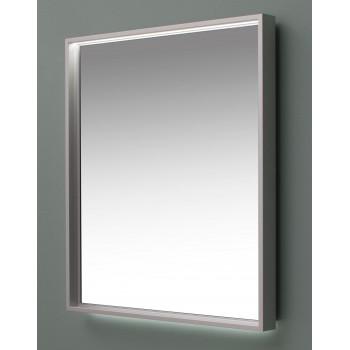 Зеркало с подсветкой в алюминиевой раме Алюминиум 100х75 Серебро