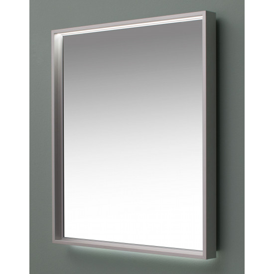 Зеркало с подсветкой в алюминиевой раме Алюминиум 100х75 Серебро в интернет-магазине ROSESTAR фото