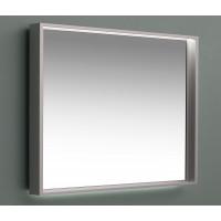 Зеркало с подсветкой в алюминиевой раме Алюминиум 120х75 Серебро