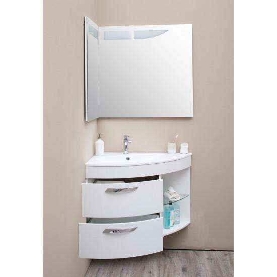 Угловое зеркало с подсветкой Трио Люкс Левое в интернет-магазине ROSESTAR фото