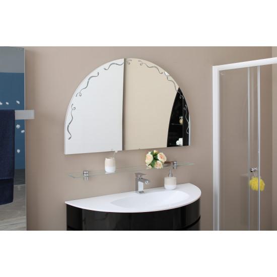 Зеркало полукруглое с LED подсветкой Эскалада NEW 117х73,5 в интернет-магазине ROSESTAR фото