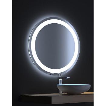 Круглое зеркало с сенсорной LED подсветкой Мун 80х80