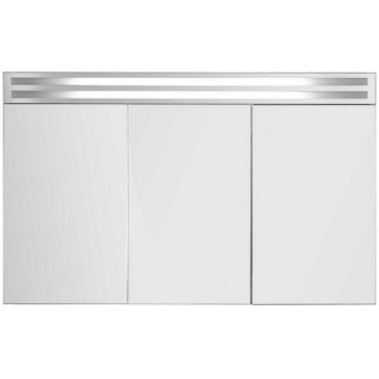 Зеркальный шкаф в ванную навесной с подсветкой «Эколь» 90