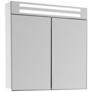 Зеркальный шкаф в ванную навесной с подсветкой «Эколь» 75