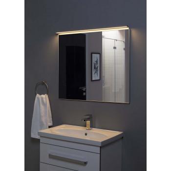 Зеркало в алюминиевой раме Сильвер 80х75 Серебро